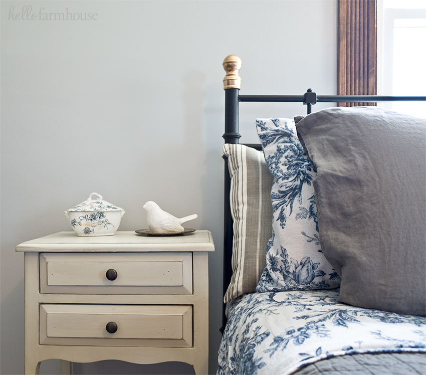 A Bit Of Gold Simple Hack For An IKEA Farmhouse Bedroom