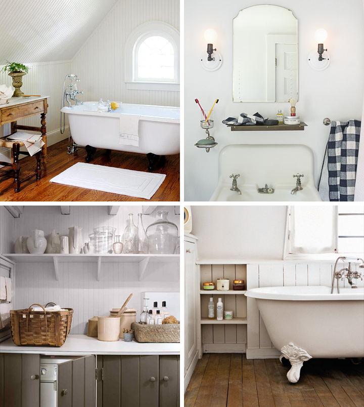 Farmhouse laundry room and bathroom