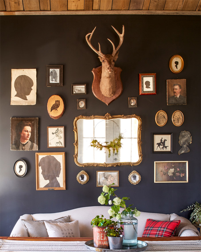 farmhouse dark walls