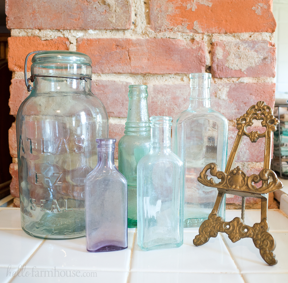Farmhouse bottle collection