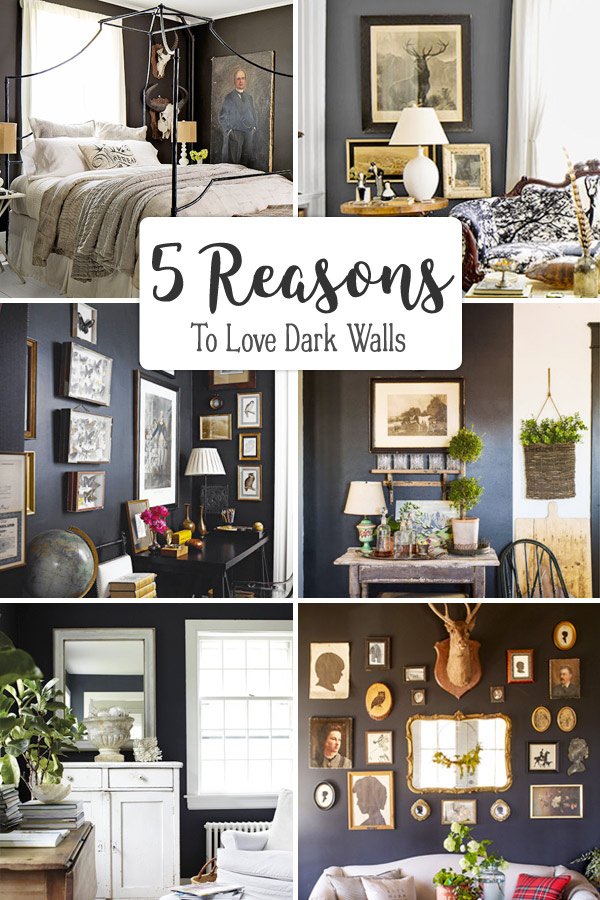 Dark painted walls