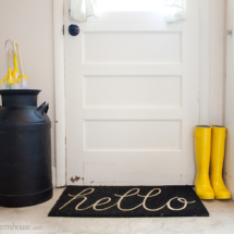Farmhouse entry welcome mat