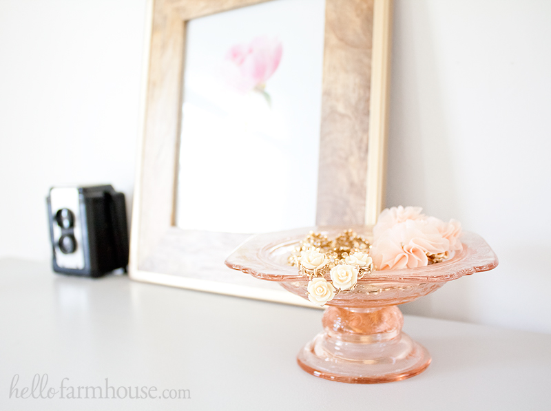 Farmhouse peony home decor