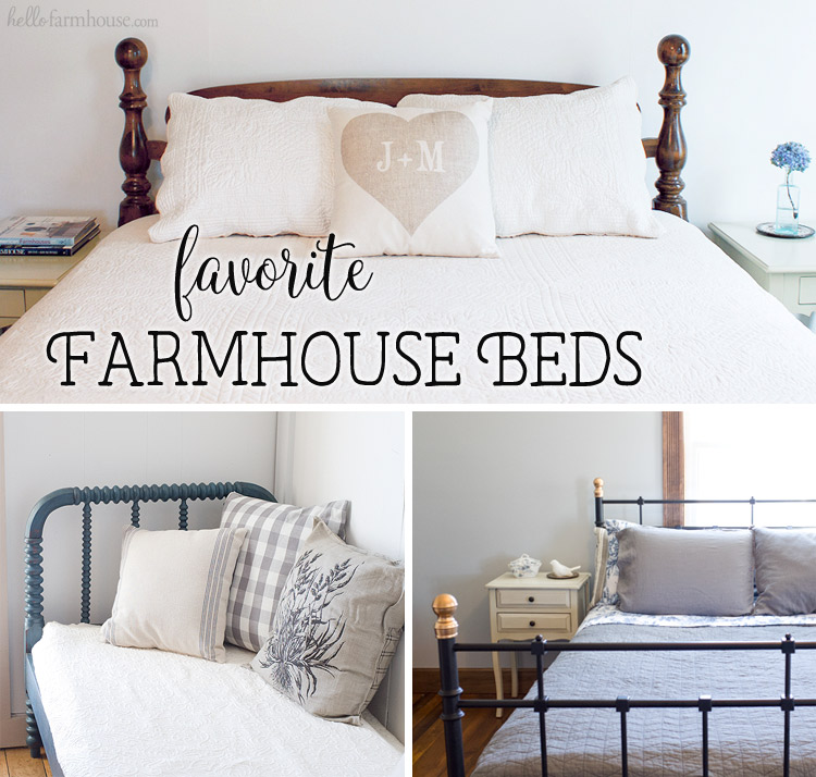 15 best farmhouse beds for any home hello farmhouse for Farmhouse style bed