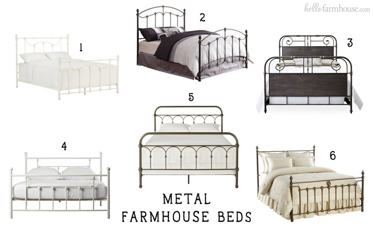 Add farmhouse charm to any home with a beautiful metal farmhouse bed.