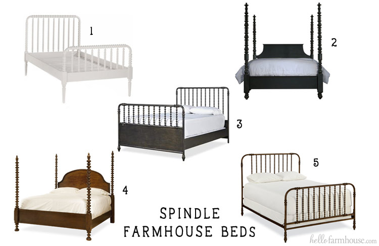Add farmhouse charm to any home with a beautiful farmhouse spindle bed.