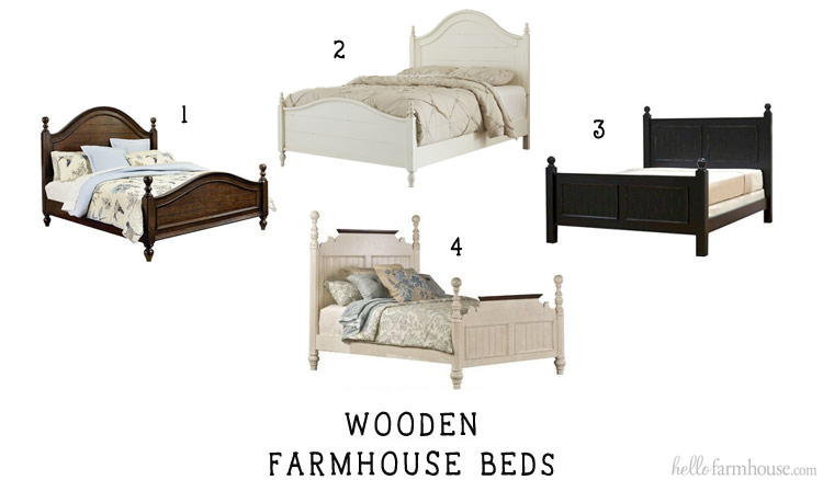 Add farmhouse charm to any home with a beautiful wooden farmhouse bed.