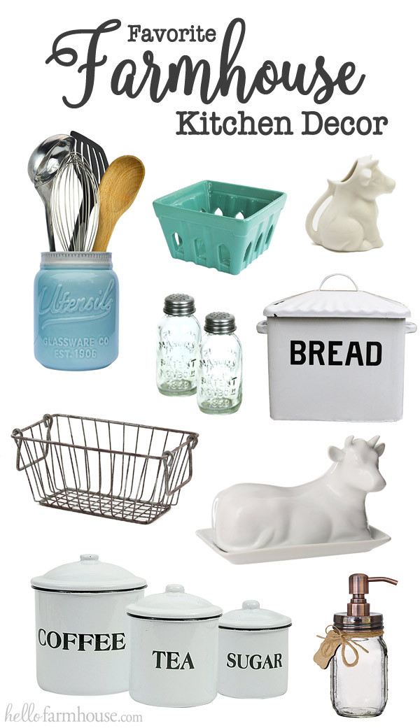 Turn any kitchen into a cozy farmhouse kitchen with our favorite farmhouse kitchen decor.