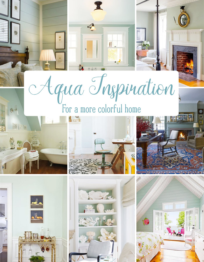 Aqua room inspiration for a more colorful home