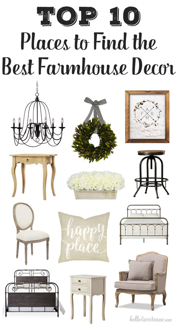 Add farmhouse charm to your home with the best farmhouse decor PLUS the best places to shop!