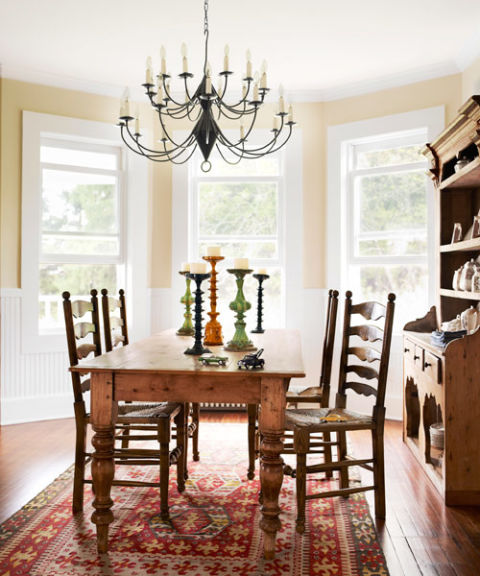 A farmhouse table is a must for a vintage farmhouse dining room!