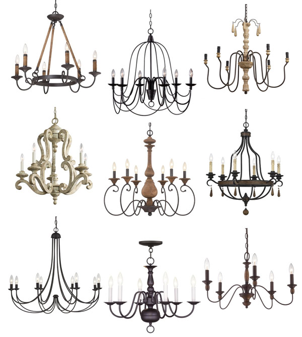 Farmhouse chandeliers for our dining room