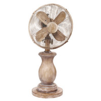 Vintage farmhouse wooden fan