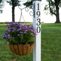 DIY farmhouse address post
