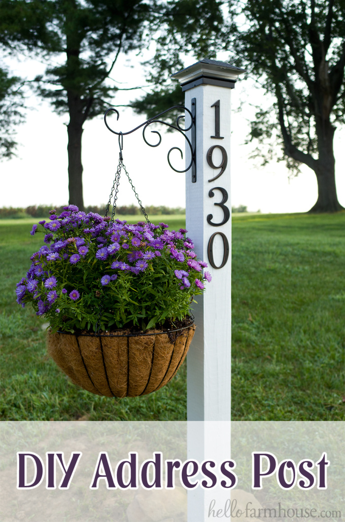 Learn how to make your own farmhouse DIY address post! This super easy DIY project will add some serious curb appeal to your home.