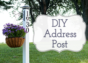 DIY farmhouse address post