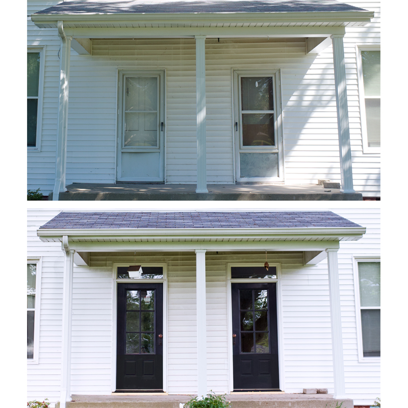 Farmhouse Front Doors Before And After