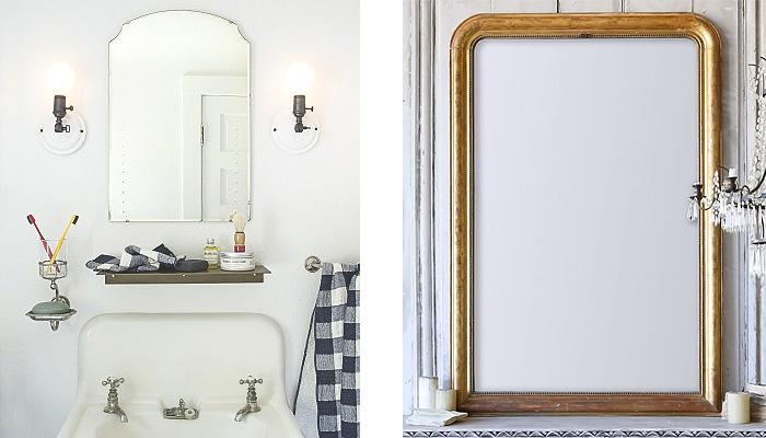 antique farmhouse mirror