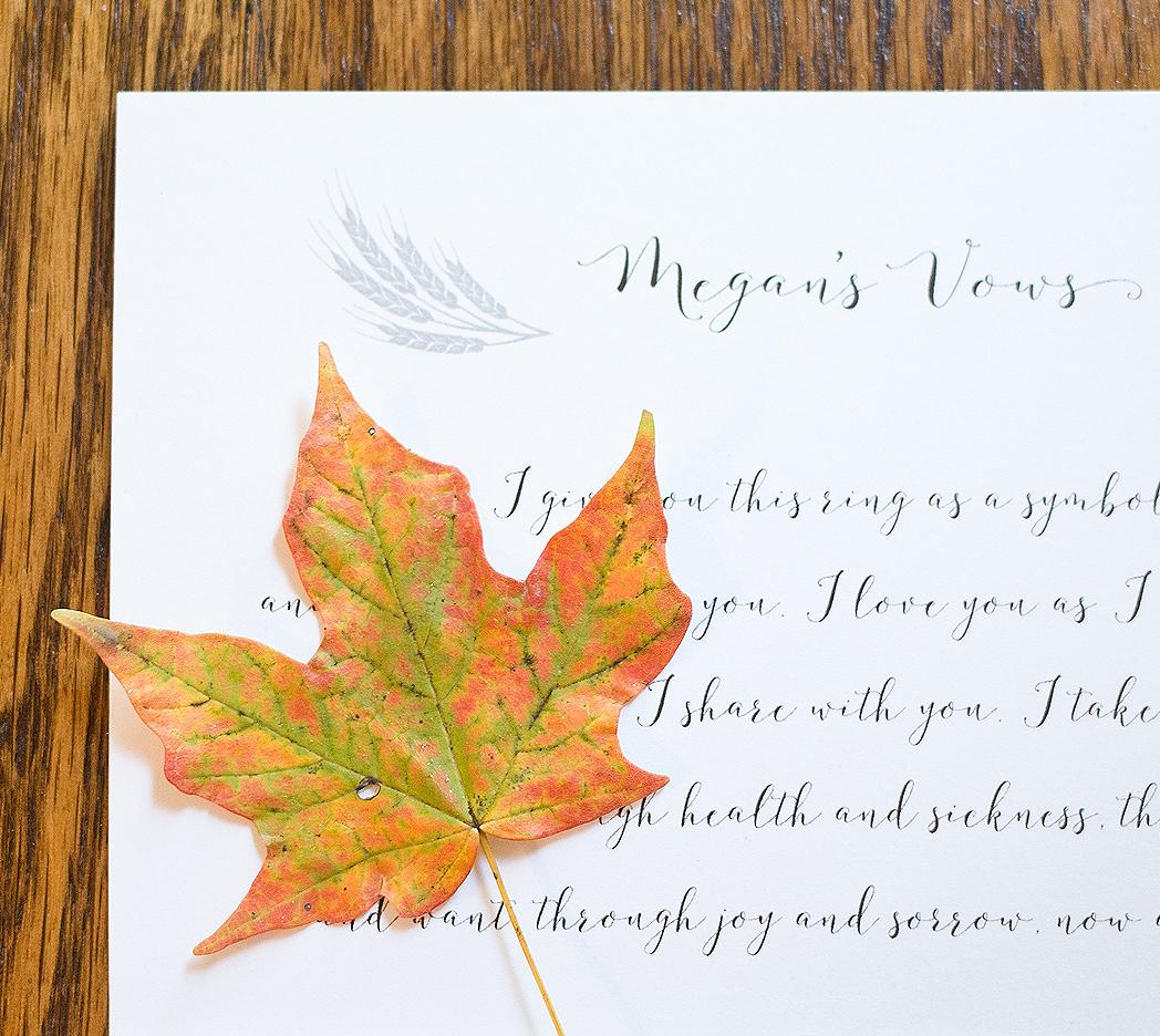 autumn fall wedding vows