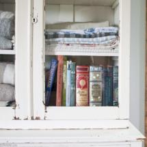Farmhouse linen cabinet bookshelf