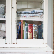 Farmhouse linen cabinet bookshelf