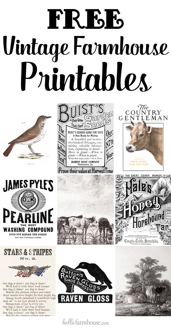 Free Farmhouse Printables Library - Hello Farmhouse