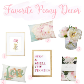 Beautiful peony home decor