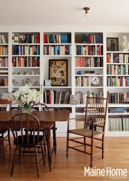Why not add a library to your dining room?