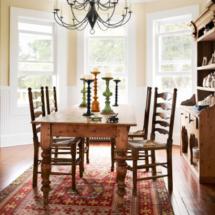 A farmhouse table is a must for a vintage farmhouse dining room!