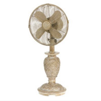 Vintage farmhouse wooden fan