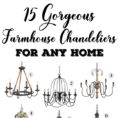 Farmhouse chandeliers make a big statement in any home!