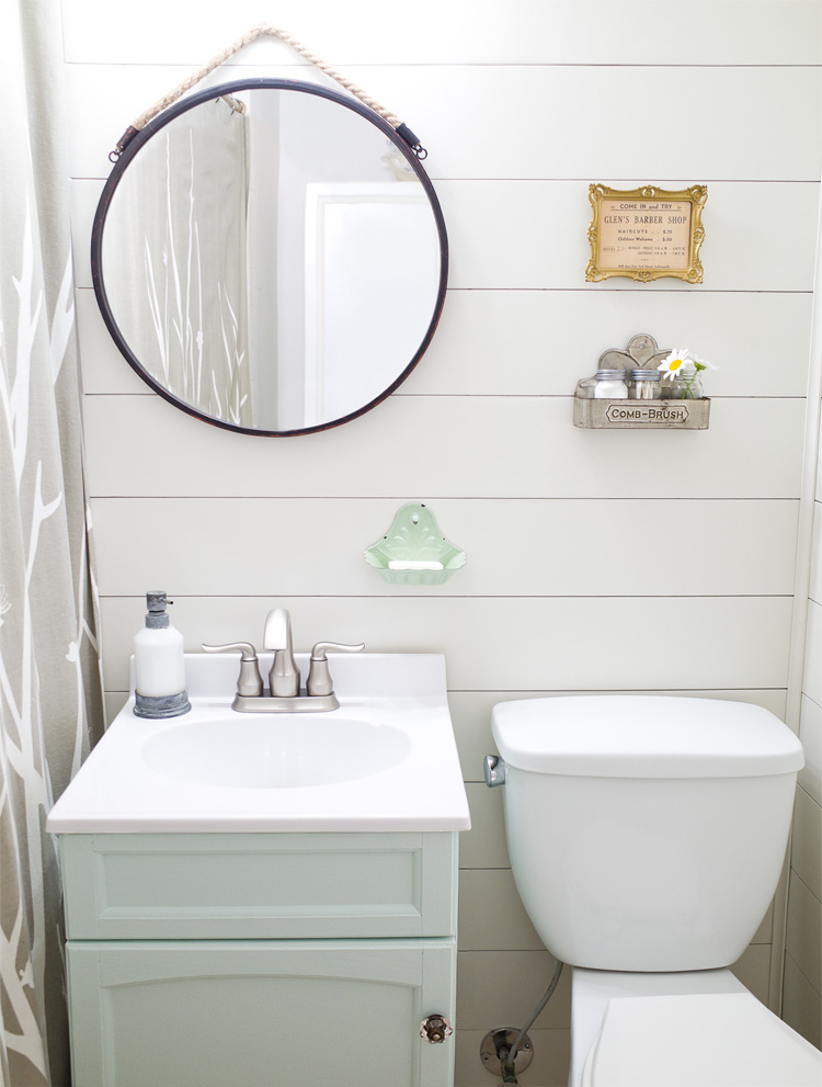 transform your bathroom from dated to full of farmhouse charm in one weekend easy diy - Bathroom Makeover
