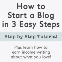 Starting a blog is easier than you think! It's all laid out in this easy tutorial.
