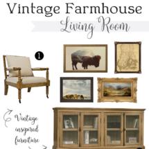 Vintage Farmhouse Living Room