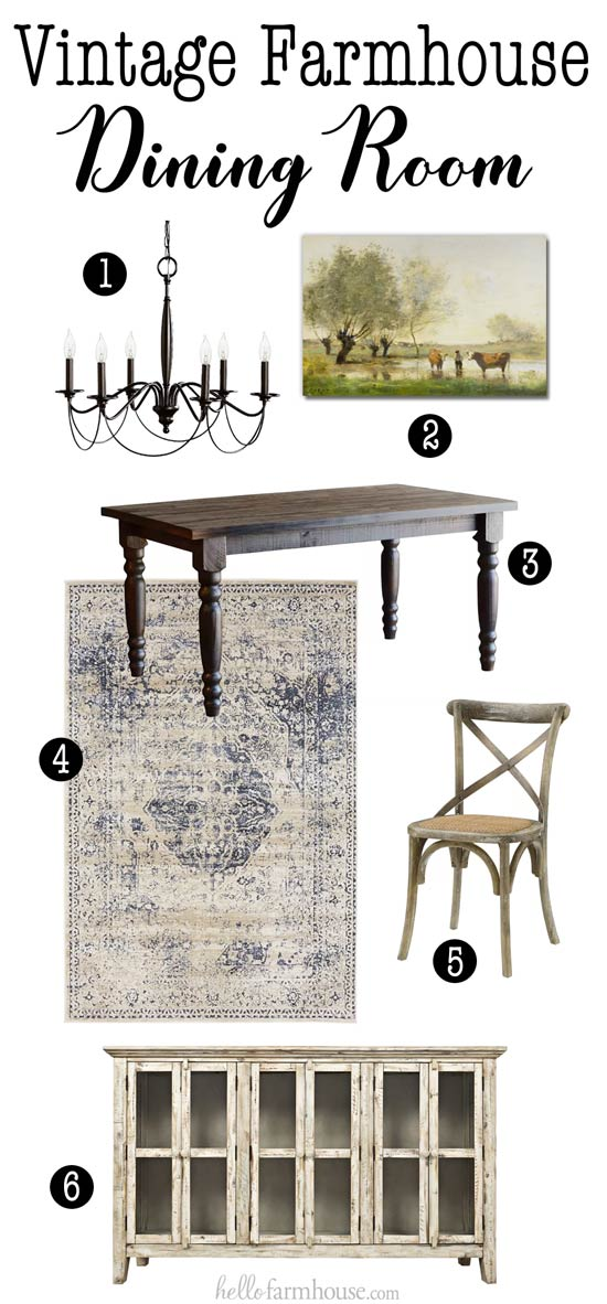 How to Create a Vintage Farmhouse Dining Room